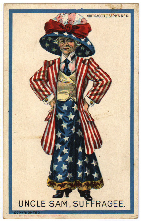 No 6 Uncle Sam Suffrage Everybody Works But Mother